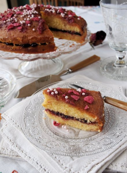 Cardamom Rose Cake with Orange Drizzle Recipe