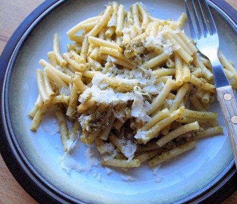 Pesto Pasta with Parmesan Recipe: