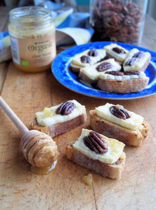 The Secret Recipe Club: Brie and Pecan Canapés Recipe