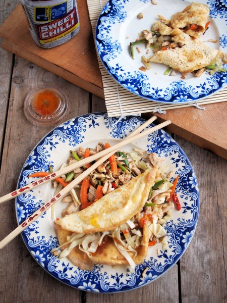 """""""Chinese New Year"""" 5:2 Diet Fast Day Recipe: Chinese Chicken Egg Roll Wraps (225 calories)"""