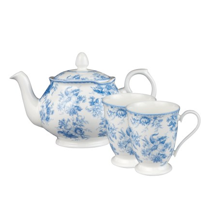 Blue Chintz Tea for Two
