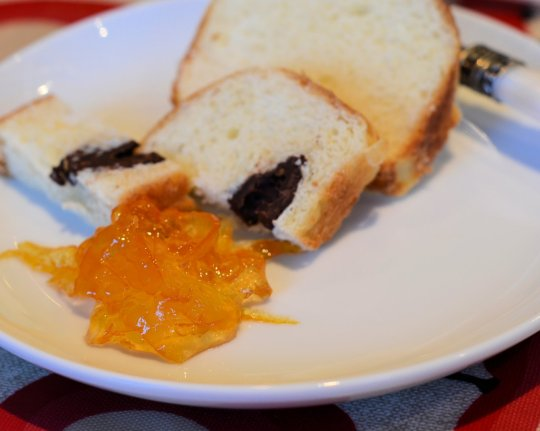 Chocolate Brioche and Marmalade