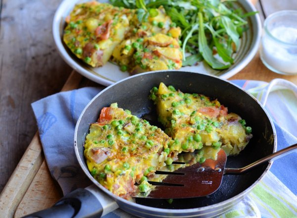 Low-Calorie Minted Pea & Vegetable Frittata