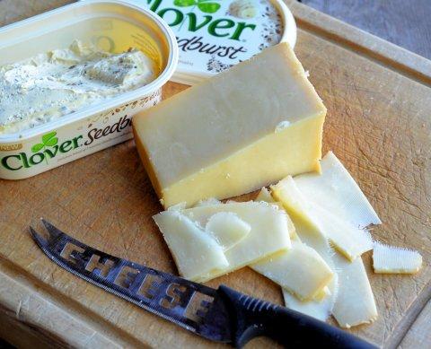 Oak smoked Cheddar cheese