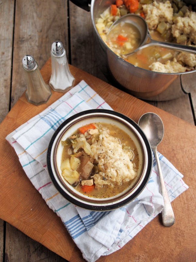 Meal Plan: Diet Food and Comfort Food - Farmhouse Chicken & Vegetable Stew with Dumplings