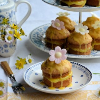 Little Victoria Lemon Daisy Cakes Recipe