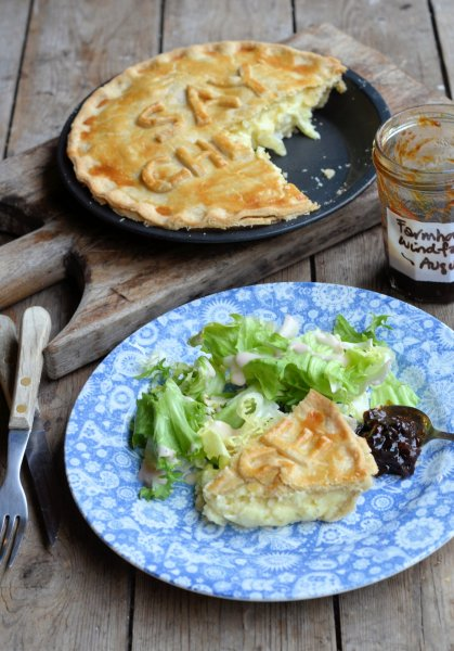 Say Cheese! Cheese, Onion and Potato Pie Recipe for British Pie Week