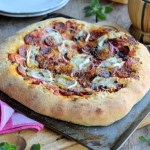Sun-Dried Tomato, Red Onion and Chorizo Pizza