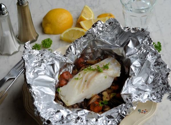 Low-Calorie Moroccan Cod Parcels (200 Calories)