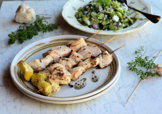 Lemon Thyme Chicken Kebabs