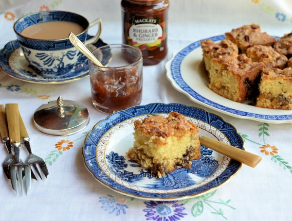 "A ""Secret"" Baked Layer Cake: Scottish Rhubarb & Ginger Crunchy Streusel Cake Recipe"