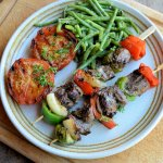 Summer Barbecue Dining: Bourbon Beef and Pepper Skewers with Potato Salad (Sous Vide)