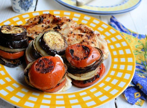 Mediterranean Goat's Cheese Vegetable Stacks