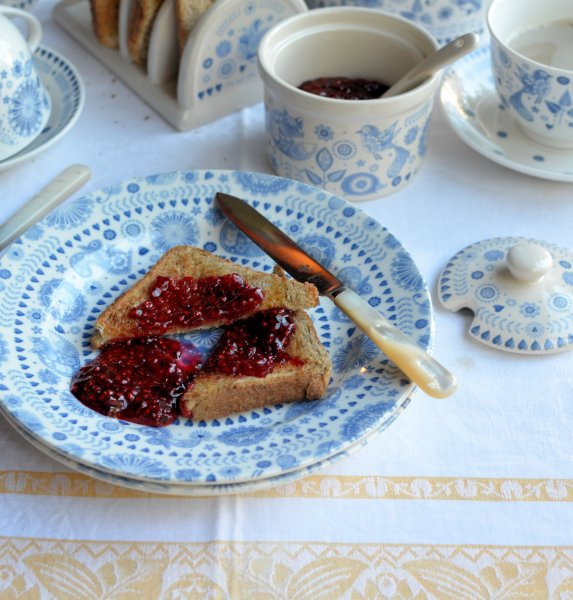 Breakfast with Churchill, Toast and Jam and Porridge with Maple Syrup & Pecans
