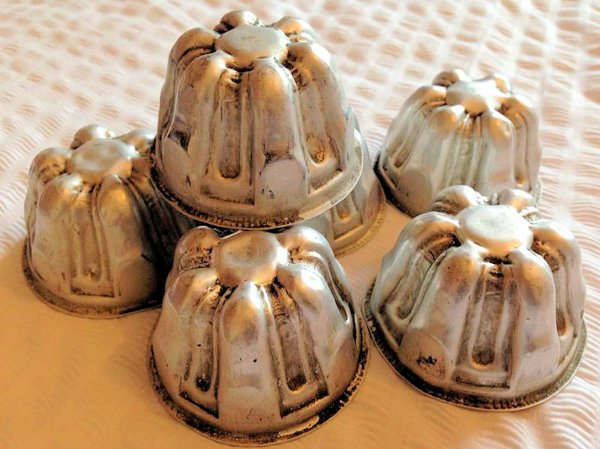 Set Of Six Mini Vintage Jelly Moulds by MAGPIE LIVING
