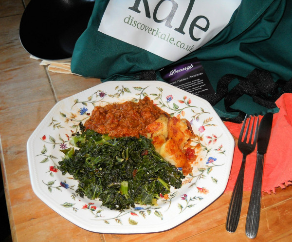 Quorn and onion mince, served with fluffy dumplings, sauted charlotte potatoes and stir fried Kale.