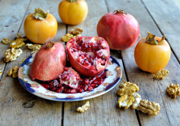 Winter fruits and nuts