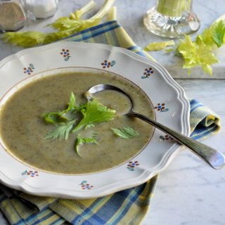 Celery Soup with Leeks