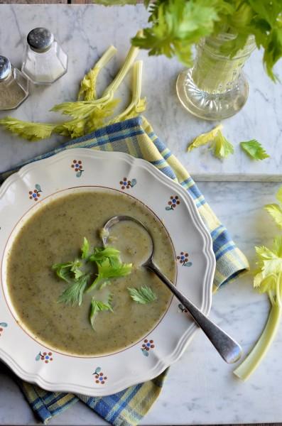 Celery Soup with Leeks