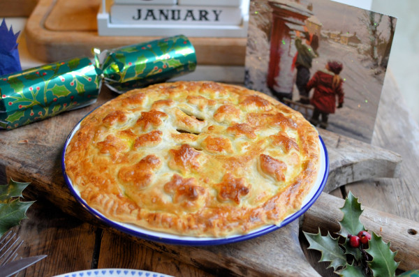 Curried Beef and Apricot Pie with a Salt Glaze Crust