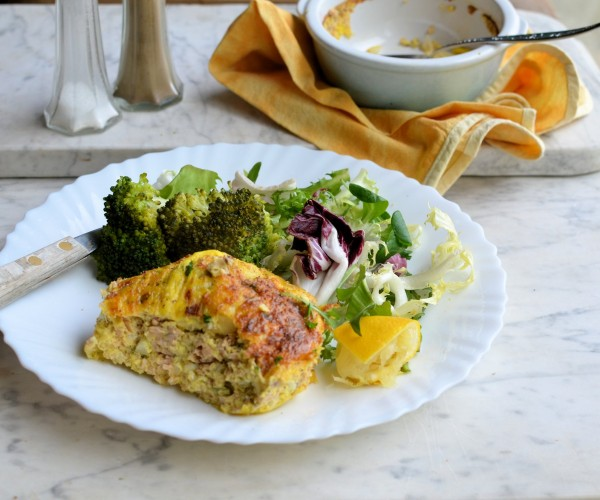 Salmon and Spring Onion Gratins