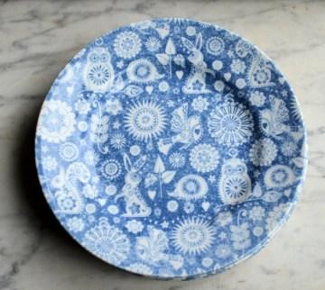 Four Tea Plates: