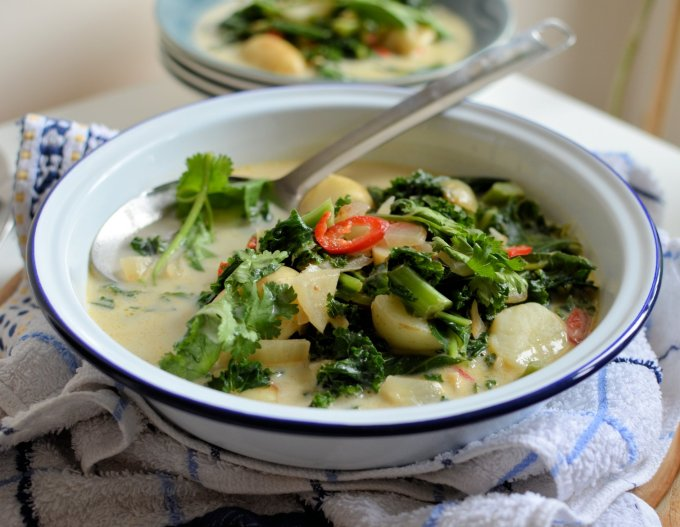 Potato & Kale Curry