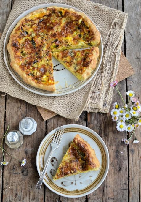 Blue Wensleydale and Wild Garlic Tart
