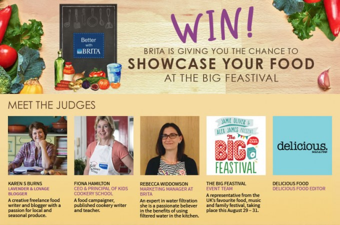 Showcase your Food with Delicious Magazine and Brita