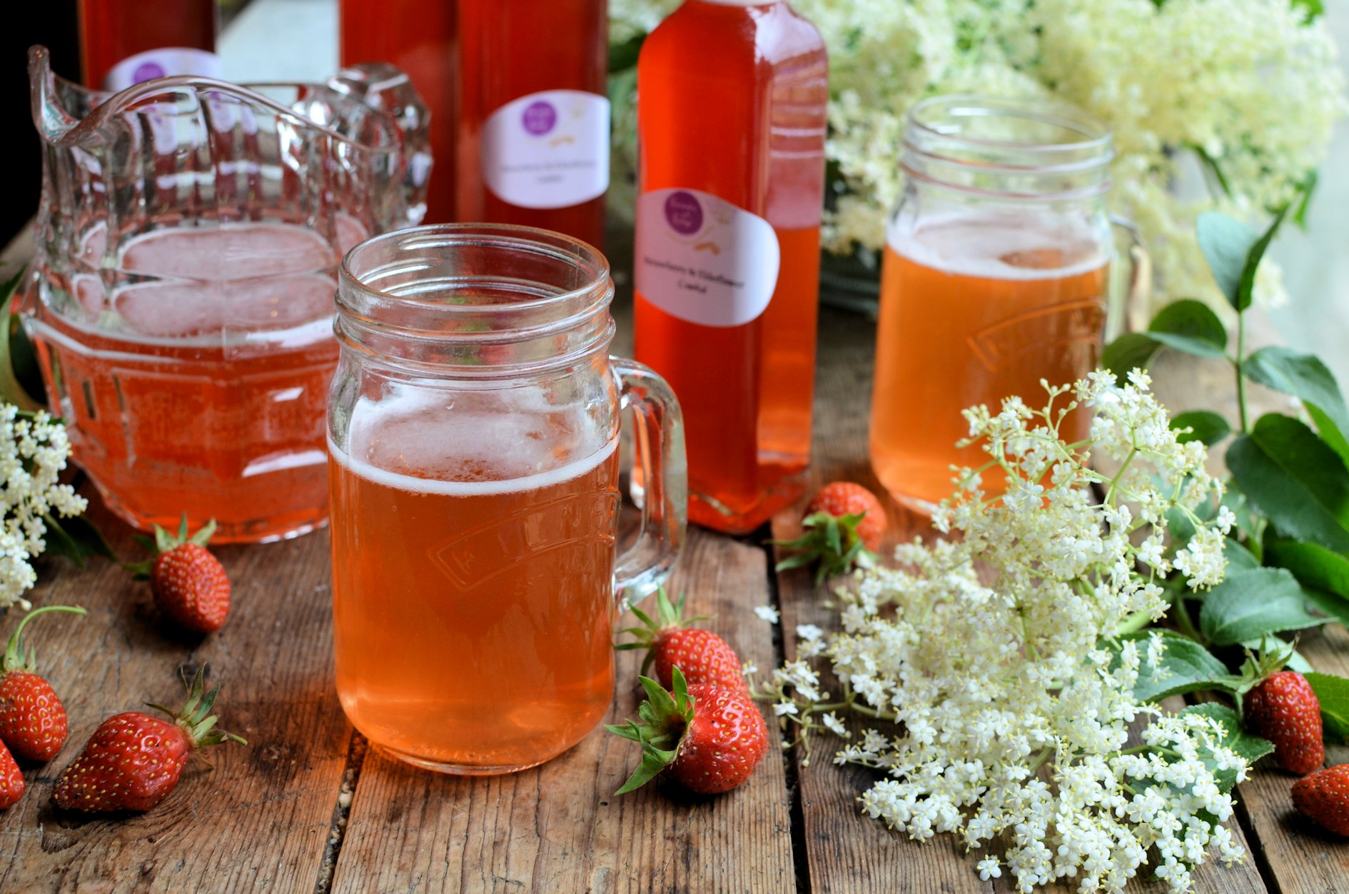 Magical Midsummer S Eve Elderflower And Strawberry Cordial Syrup
