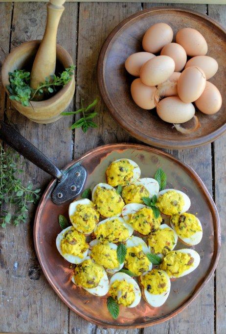 Medieval Stuffed Eggs