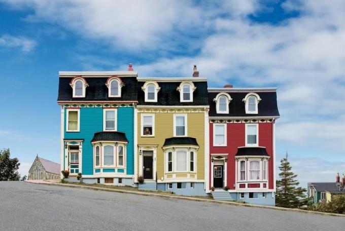 Jelly Bean Houses in St John's, Newfoundland