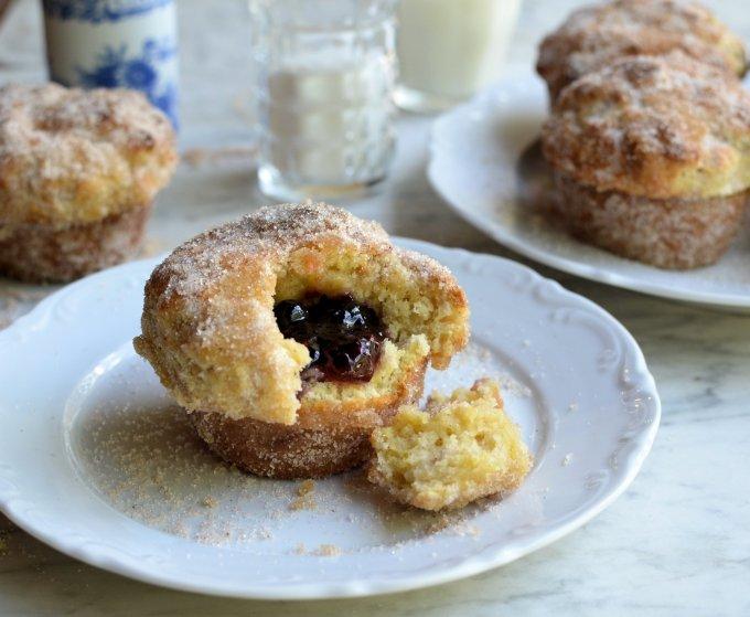 Baked Jam Doughnut Muffins for The Secret Recipe Club
