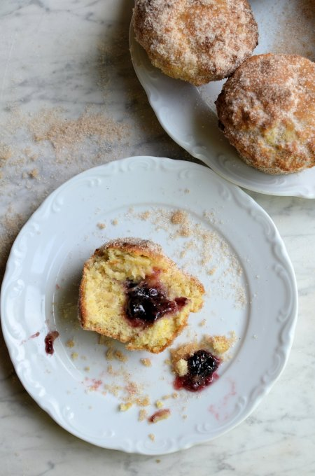 Baked Jam Doughnut Muffins for The Secret Recipe Club