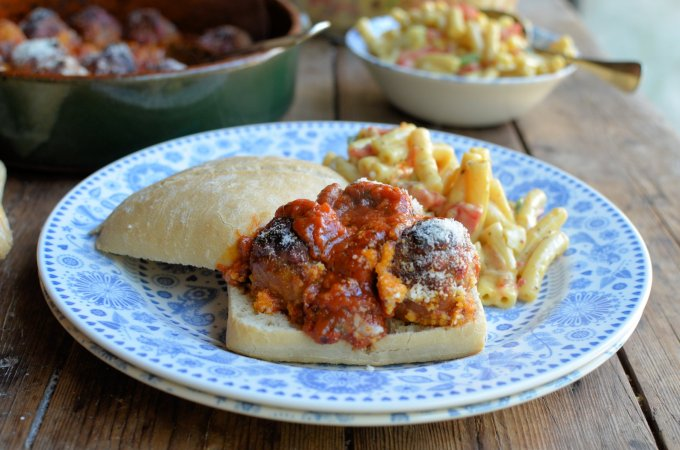Hidden Veg Baked Meatball Subs (Sandwiches)