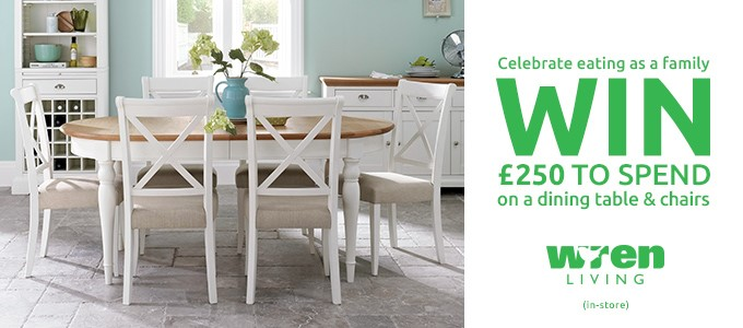 Celebrate Eating As a Family: Win £250 to spend on a Dining Table & Chairs from Wren Living