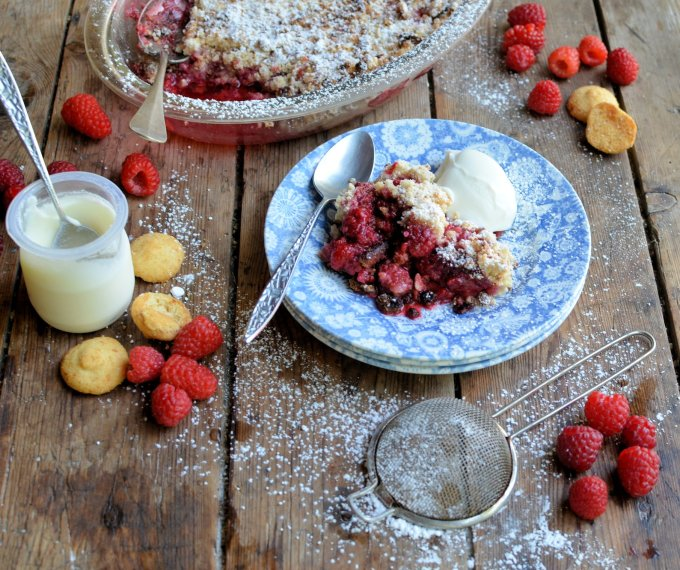 Raspberry and Almond Crisp