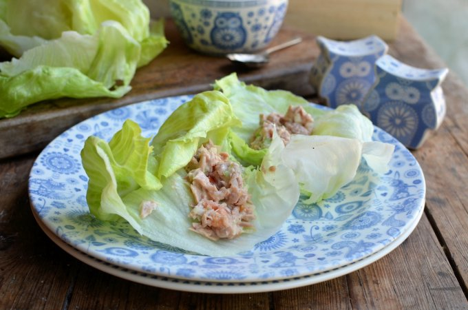 Tuna Salad Lettuce Wraps