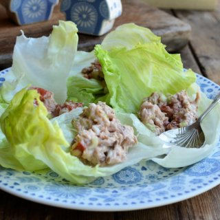 Blue & White Owls, Penzance and Tuna Salad Lettuce Wraps (5:2 Diet)
