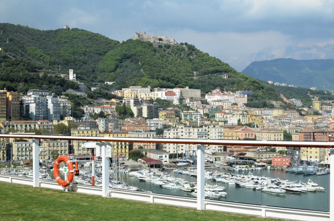 The Lawn Club overlooking the Port of Salerno