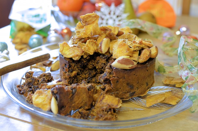 Gluten-free Tropical Christmas Cake