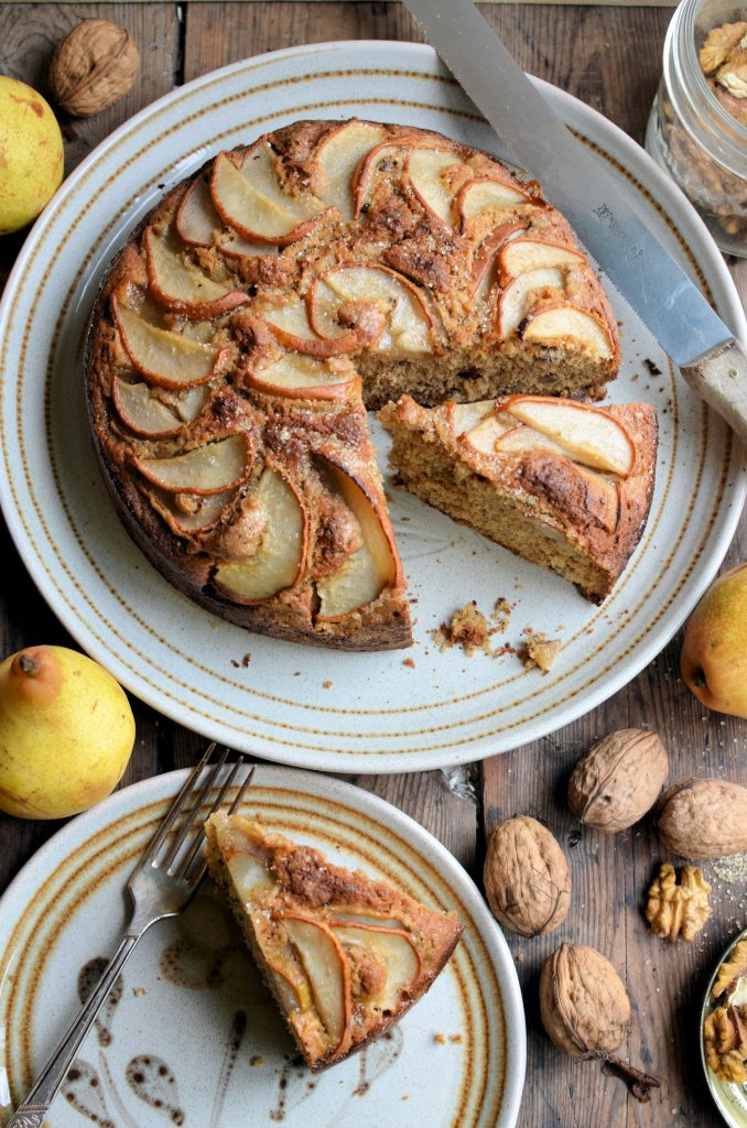 Pear, Walnut and Brown Sugar Cake