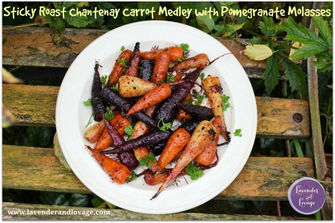 Sticky Roast Chantenay Carrot Medley with Pomegranate Molasses