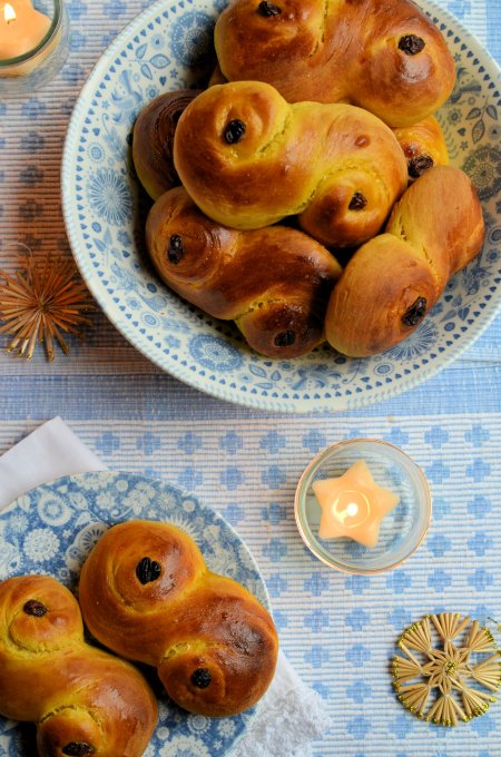 St Lucia Saffron Buns on The Caravan Trail Penzance Plates