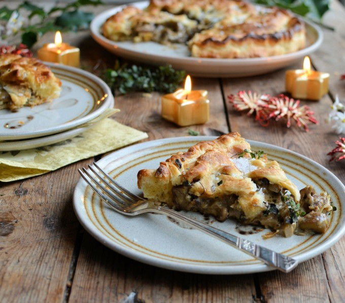 Vegan Mushroom, Chestnut and Thyme Pithivier