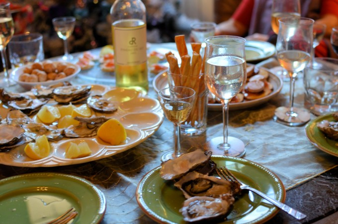 Oysters on Christmas Day