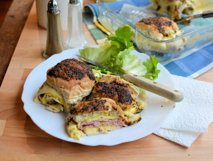 A Secret Breakfast Recipe: Baked Ham and Swiss Cheese Sliders