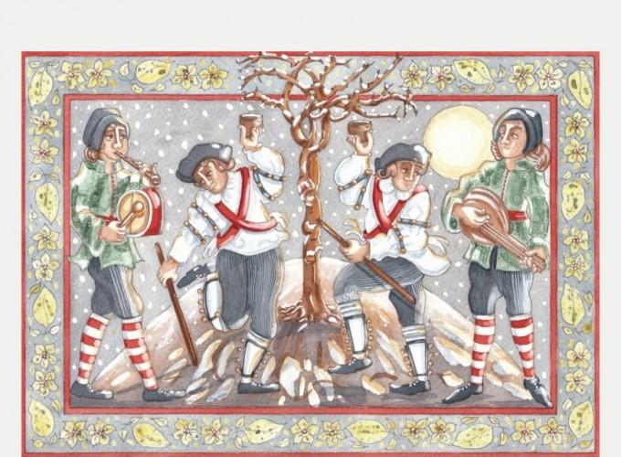 Wassailing Apple Trees