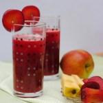 Plum, beetroot and apple juice 1b