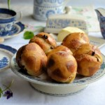 "This year I have decided to go a little ""off piste"" with my buns, in a manner of speaking! I will be using my old family recipe, as it really is a winner, but, I will be baking these buns in a muffin tray this year, (as you can see from my photos) in the manner of a French Brioche. I decided that we are going to go dainty for Easter tea, with smaller buns that are also a pretty shape; I was going to bake them in some traditional brioche moulds, but as they are vintage moulds, they are considerably smaller than the modern-day silicone moulds, and greed overtook ""dainty"" on that score!"